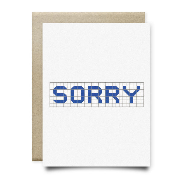 Sorry | Houston Blue Tiles Greeting Card - Cards