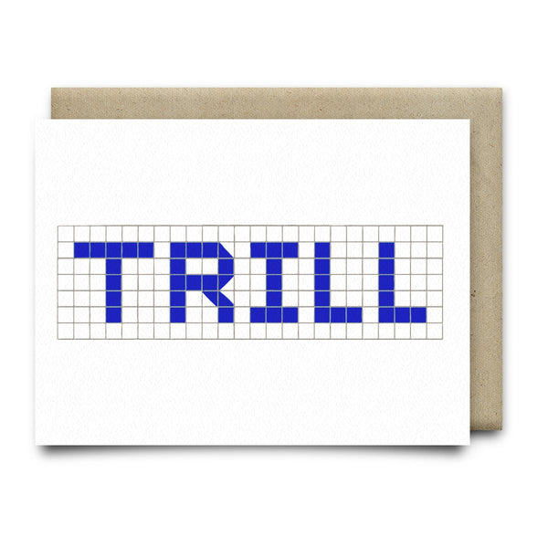 Trill | Houston Blue Tiles Greeting Card - Cards
