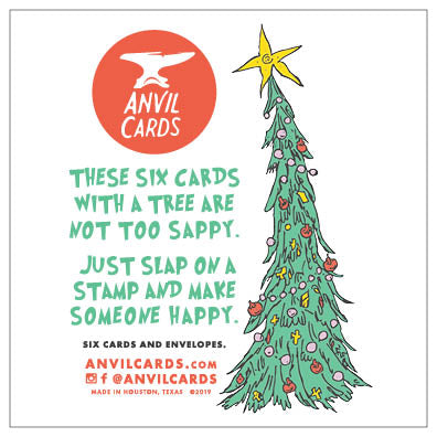 Leaning Tree Christmas Card Bundle