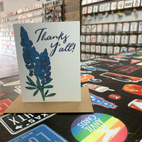 Thanks Y'all Bluebonnets Greeting Card