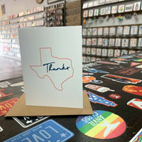 Texas Thank You Card | Orange and Blue