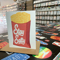 Stay Salty (Waffle Fries Card)
