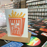 "Fry-ve O'Clock Somewhere (""Orange Box"" Fries Card)"