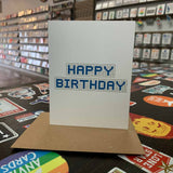 Happy Birthday | Houston Blue Tiles Greeting Card