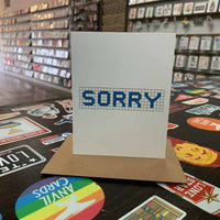 Sorry | Houston Blue Tiles Greeting Card