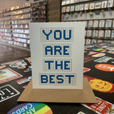 You Are The Best | Houston Blue Tiles Greeting Card
