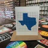Texas | Houston Blue Tiles Greeting Card