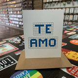 Te Amo | Houston Blue Tiles Greeting Card
