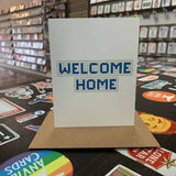 Welcome Home | Houston Blue Tiles Greeting Card