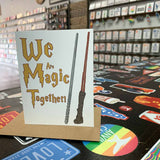 We are Magic Together Wedding Anniversary Card