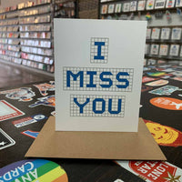 I Miss You | Houston Blue Tiles Greeting Card