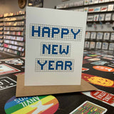 Happy New Year | Houston Blue Tiles Greeting Card
