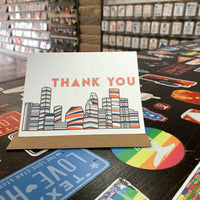 Houston Thank You Card | Astros Orange and Blue