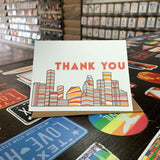Houston Thank You Card | Classic Rockets Red and Yellow