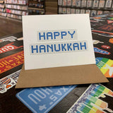 Happy Hannukkah | Houston Blue Tiles Greeting Card