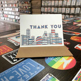 Houston Thank You Card | Red, White and Blue
