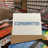 Congrats | Houston Blue Tiles Greeting Card