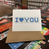 I Heart You | Houston Blue Tiles Greeting Card