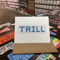 Trill | Houston Blue Tiles Greeting Card