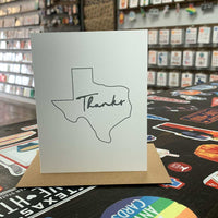 Texas Thank You Card | Gray