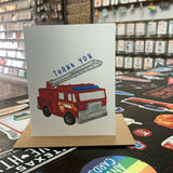 Fire Truck Kid's Thank You Card
