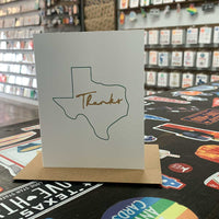 Texas Thank You Card | Green and Gold