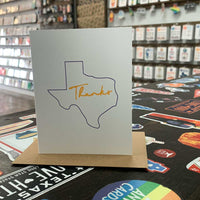 Texas Thank You Card | Purple and Yellow