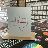 Texas Thank You Card | Red and Black