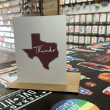 Texas Thank You Card | Maroon