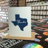 Texas Thank You Card | Navy Blue