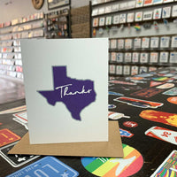 Texas Thank You Card | Purple and Gray