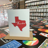 Texas Thank You Card | Red