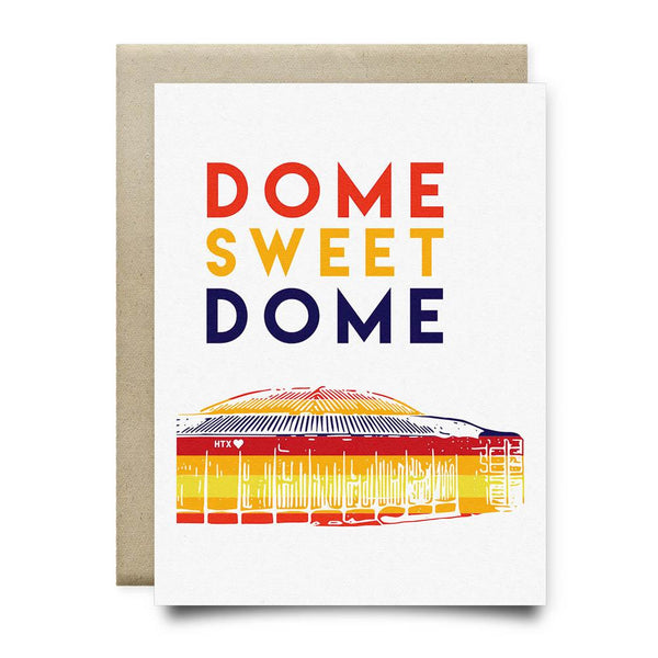 Dome Sweet Dome Greeting Card | Astros Vintage Rainbow - Cards