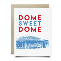 Dome Sweet Dome Greeting Card | Oilers Luv Ya Blue - Cards