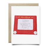 Etch a Sketch Nobodys Perfet Card - Cards