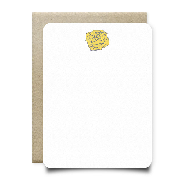 Yellow Rose Stationery Set