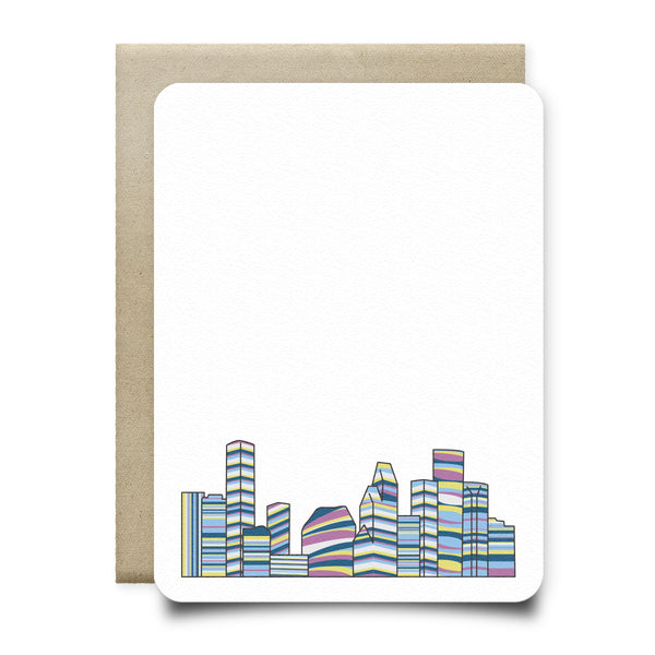 Multicolor Houston Skyline Stationery Set
