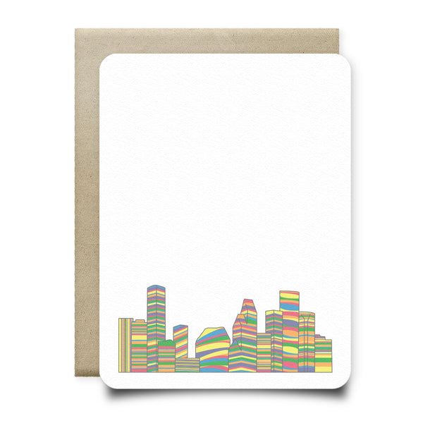 Pride Houston Skyline Stationery Set