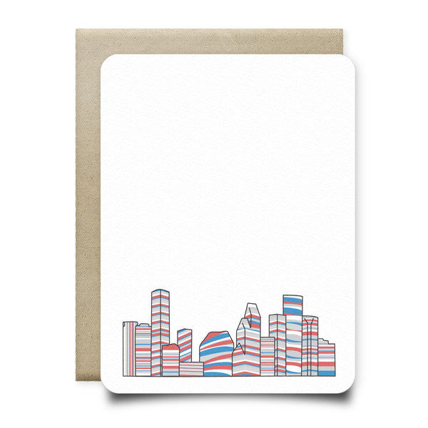 Luv Ya Blue Houston Skyline Stationery Set