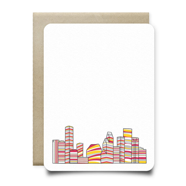 Rockets Red and Yellow Houston Skyline Stationery Set