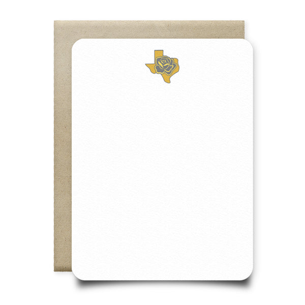 Texas Yellow Rose Stationery Set