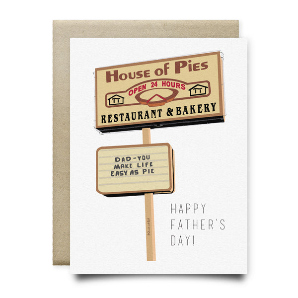 House of Pies - Easy as Pie Father's Day Card
