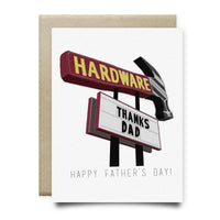 Hardware Sign Thanks Dad Father's Day Card