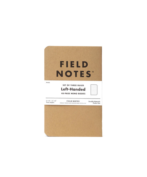 Field Notes Left Handed 3 Pack