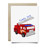 Fire Truck Kids Thank You Card - Cards