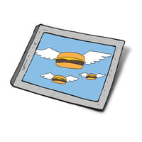 Flying Burger Portrait Sticker