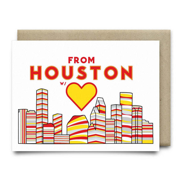 From Houston with Love | Rockets Red and Yellow - Cards