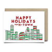 Happy Holidays from H-Town Christmas Card