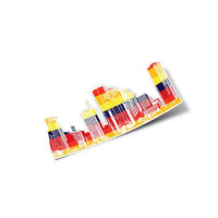 Houston Skyline Sticker - Vintage Astros