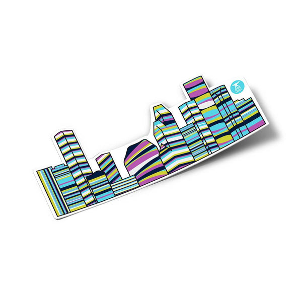 Houston Skyline Sticker - Multicolor